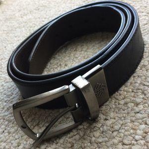 Reversible black and brown belt